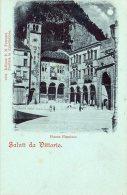 [DC8186] TREVISO - PIAZZA FLAMINIO - SALUTI DA VITTORIO - Old Postcard - Treviso