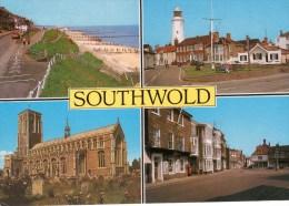 Postcard - Southwold (Lighthouse/Church), Suffolk. 2-31-02-06