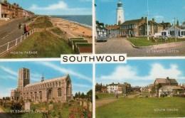 Postcard - Southwold (Lighthouse/Church/Pier), Suffolk. 1-31-02-06