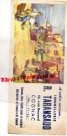 16 - COGNAC - BUVARD TONNELLERIE R. TARANSAUD- PETANQUE- 15 RUE BAYARD - TONNEAUX- CUVES- MERRAINS TRONCAIS ET LIMOUSIN - Food