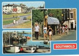 Postcard - Southwold (Harbour/Green/Market Place), Suffolk. S.1225L