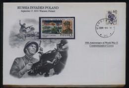 POLONICA 1989 WORLD WAR 2 WW2 RUSSIA INVADES POLAND COMM COVER SCARCE ITEM MILITARIA SOLDIER ARMY POLAND MACHINE GUN - 1944-.... République