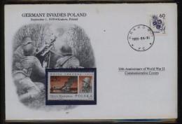 POLONICA 1989 WORLD WAR 2 WW2 GERMANY INVADES POLAND COMM COVER SCARCE ITEM MILITARIA SOLDIER ARMY POLAND MACHINE GUN - 1944-.... République