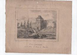 Vue Extérieure De La Porte Saint-Pierre à AMIENS.Lythographie De :A.Le Prince.1931. - Lithographies