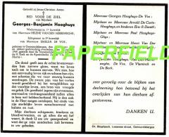 Doodsprentje Georges Benjamin HOOGHUYS - GEERARDSBERGEN 1888 - 1949 - Devotion Images