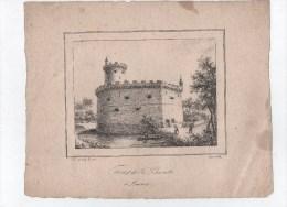 Tour De La Barette à AMIENS.Lythographie De :A.Le Prince.1832.planche 25,5 Cm X 20,5 Cm. - Lithographies