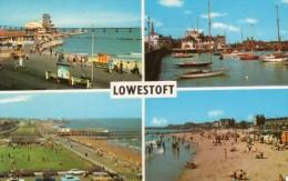 Postcard - Lowestoft (Piers/Yacht Basin/Beach/Lighthouse), Suffolk. PLC13160