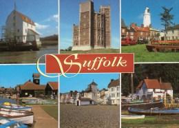 Postcard - Suffolk (Lighthouse/Watermill/Castle), Suffolk. 2-31-00-08