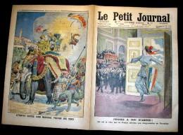 LE PETIT JOURNAL. 1913. N. 1156. PENSEZ A MOI D' ABORD. ATTENTAT. CONTRE LORD HARDINGE, VICE-ROI DES INDES