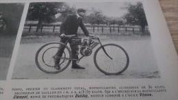 1902 COURSE DE COTE GAILLON / MOTOCYCLISTES / LES CRACKS DU VELODROME BUFFALO / SIR THOMAS LIPTON