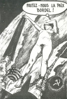 CPSM GUERRE FROIDE ETATS-UNIS URSS FEMME NUE MISSILE BOMBE - Non Classés