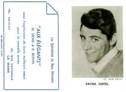 CALENDRIER-1963-SACHA DISTEL-BON ETAT- - Petit Format : 1961-70