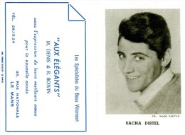 CALENDRIER-1963-SACHA DISTEL-BON ETAT- - Calendriers