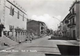 Lazio-roma-trevignano Romano Veduta Viale IV Novembre Animatissima Anni 50 - Altre Città