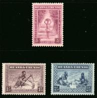 Ruanda 0111/113** - Types indig�nes et paysages  MNH