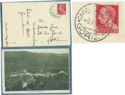 FRIULI VENEZIA GIULIA  SLOVENIA - CANALE D'ISONZO - ANNULLO CANALE D'ISONZO - GORIZIA - 1932 - Gorizia