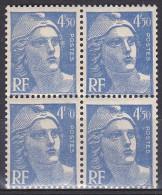 France - N° 718Ab (5 De 4,50 Absent Sur Bloc De 4) Luxes (MNH) - Cote +50 Euros - Prix De Départ 15 Euros - Neufs
