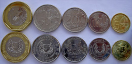 SINGAPORE 2013 SERIE 5 MONETE CON BIMETALLICA 1 DOLLARO 50-20-10-5 CENT FDC - Singapore