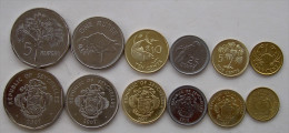 SEYCHELLES SERIE 6 MONETE 5+1 RUPEES + 25-10-5-1 CENT FDC - Seychelles