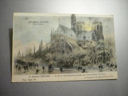 Kolossal Kulture (ses Crimes) Bombes Incendiaires Lancées Sur Notre-Dame De Paris - Patriotic