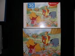DISNEY WINNIE THE POOH - PUZZLE 30 PIECES - NATHAN - LA SIESTE DE WINNIE - OCCASION COMPLET - Puzzles