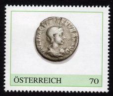 ÖSTERREICH 2015 ** Römischer Denar 3. Jh. N. Chr. - PM Personalized Stamp MNH - Private Stamps