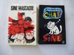 SINE LOT DE  2 LIVRES DE POCHE : SINE MASSACRE Et Je Ne Pense Qu´à CHAT - Détails Sur Les Scans - Livres, BD, Revues