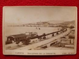 CANNES BOULEVARD DE LA CROISETTE PHOTO DE BRAY 16.5 X 11 - Photos