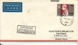 Lima Caracas 1976 - First Flight Erstflug 1er Vol - Lufthansa - Vénézuela Pérou Peru - Peru