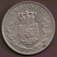 DANMARK 5 KRONER 1972 - Danemark