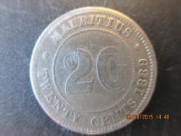 20 Cents Victoria 1889 H Maurice, TB - Mauritius