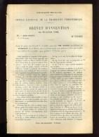 - FILATURE . BREVET D´INVENTION DE 1902 . - Technical