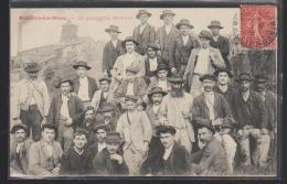 C.P.A. D UN GROUPE DE MINEURS A BUXIERES LES MINES 03 - Autres Communes