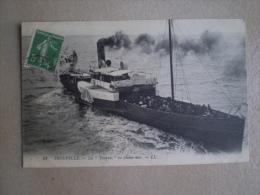 """Carte Postale Bateau """"LA TOUQUES""""    N°21 - Dampfer"""