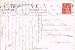13986. Postal VICHY (Allier) 1950.  Flamme Eaux Mineraux. Balneario - France