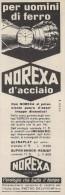 # NOREXA GENEVE SUISSE HORLOGERIE 1950 Italy Advert Publicitè Reklame Orologio Montre Uhr Reloj Relojo Watch - Montres Publicitaires
