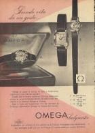 # OMEGA BIEL/BIENNE SUISSE HORLOGERIE 1950s Type1 Italy Advert Publicitè Reklame Orologio Montre Uhr Reloj Relojo Watch - Montres Publicitaires