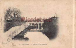 66 -  PERPIGNAN -  La Basse Et Le Pont De Guerre - Dos  Précurseur  - 2 Scans - Perpignan
