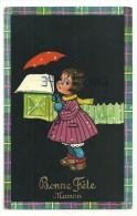 Bonne Fête Maman. Petite Fille Sous La Neige. Parapluie. JC  P 5901 - Fête Des Mères