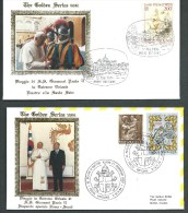1984. TWO COVERS THE GOLDEN SERIES  VATICAN POST OF POPE JOHN PAUL II - Covers & Documents