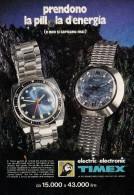 # TIMEX WATCH 1970s Italy Advert Publicitè Publicidad Reklame Orologio Montre Uhr Reloj Relojo Watches - Advertisement Watches