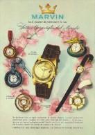 # MARVIN LA CHAUX DE FONDS SUISSE HORLOGERIE 1960s Italy Advert Publicitè Reklame Orologio Montre Uhr Reloj Relojo Watch - Montres Publicitaires