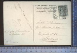 338/737   CPA CARTOLINA POSTALE 1911 FIORI VIAGGIATA PER LIVORNO DA CASTIGLION FIORENTINO CASA EDITRICE CARUSO PISA - Fiori, Piante & Alberi