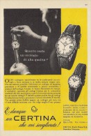 # CERTINA KURTH GRENCHEN SUISSE HORLOGERIE 1950s Italy Advert Publicitè Reklame Orologio Montre Uhr Reloj Relojo Watch - Werbeuhren