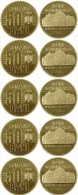 ROMANIA: UNC 5x50 BANI COIN Issued 2015 COMMEMORATIVE COIN 10 YEARS SINCE The REDENOMINATION Of The DOMESTIC CURRENCY - Coins & Banknotes