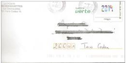 Lettre  Prêt à Poster     Bureau De Poste  Paris Desnouettes ( 75731 )  Facsimilé Timbre  2014 - Prêts-à-poster: Other (1995-...)