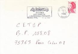 France-Flamme-Reims-1/4/1986-Reims/son Musée De L'automobile Française - Cars