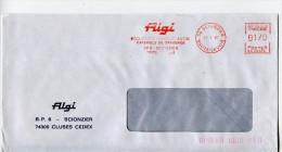 EMA Secap,Algi,pompe Pneumatique A Graisse,huile,pression,materiels De Graissage Cycles Et Motos,74 Cluses,lettre 1985 - Cycling