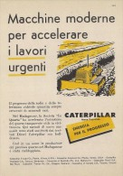 # CATERPILLAR TRACTOR Co.USA 1950s Italy Advert Pub Reklame Magagascar Quartz - Tractors