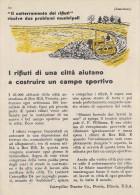 # CATERPILLAR TRACTOR Co.USA 1950s Italy Advert Pub Reklame Box Hill Victoria Australia Wastes - Tractors